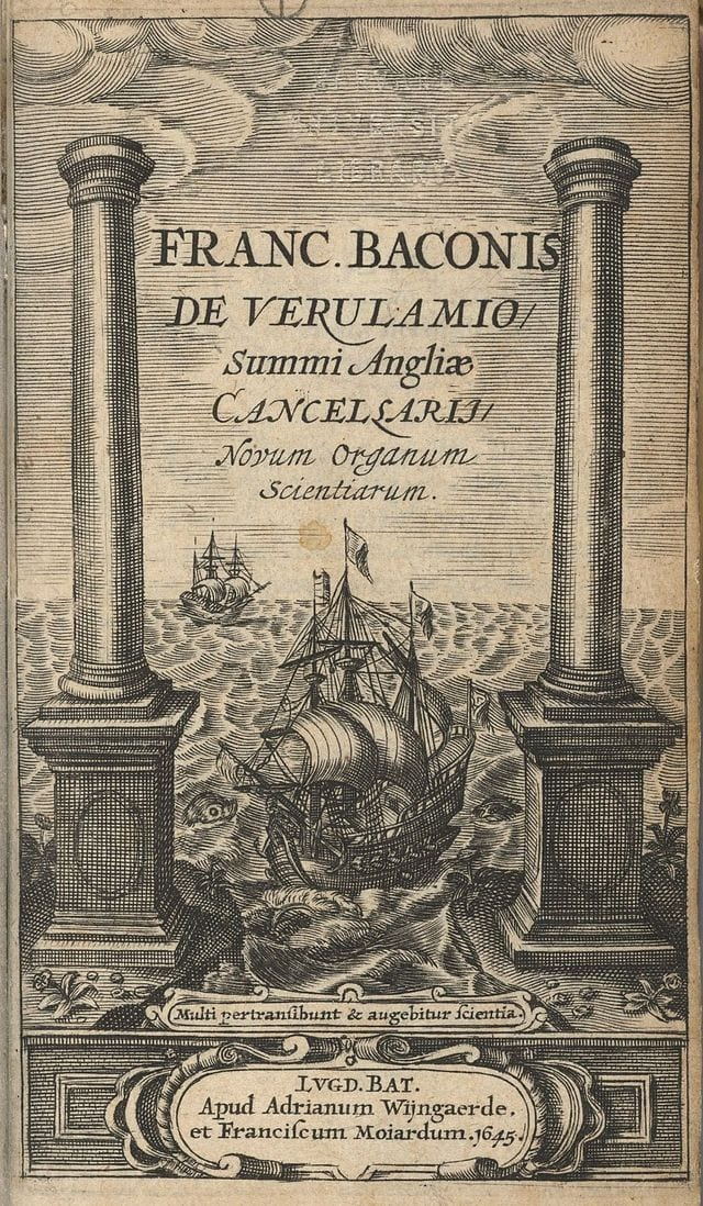 The title page of Francis Bacon's Novum Organum