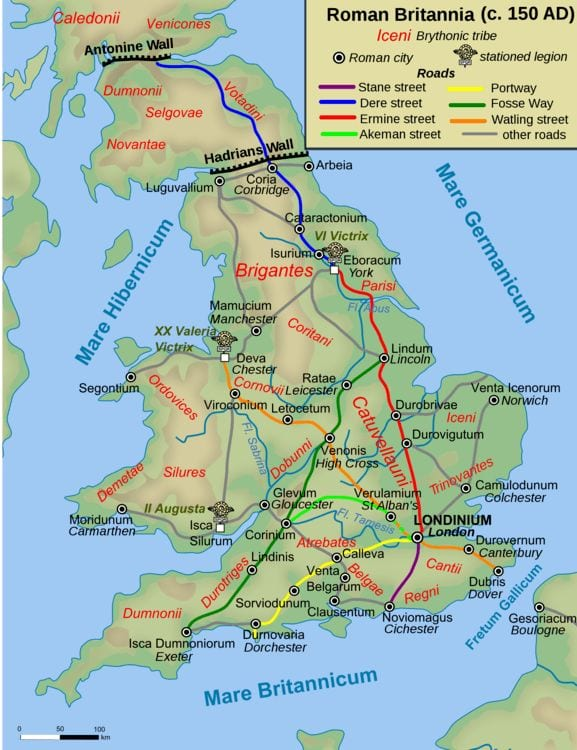 Map of Roman Britain