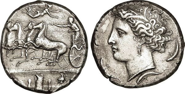 Syracuse - Silver Dekadrachm - c. 400 to 380 BCE